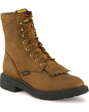 "Ariat Men's 8"" Cascade Work Boot, Aged Bark, hi-res"