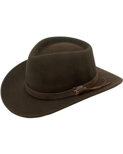 Twister Durango Double S Crushable Wool Hat, Brown, hi-res