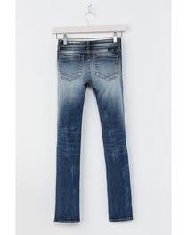 Miss Me Girls' Indigo Plain Distressed Jeans - Skinny , , hi-res
