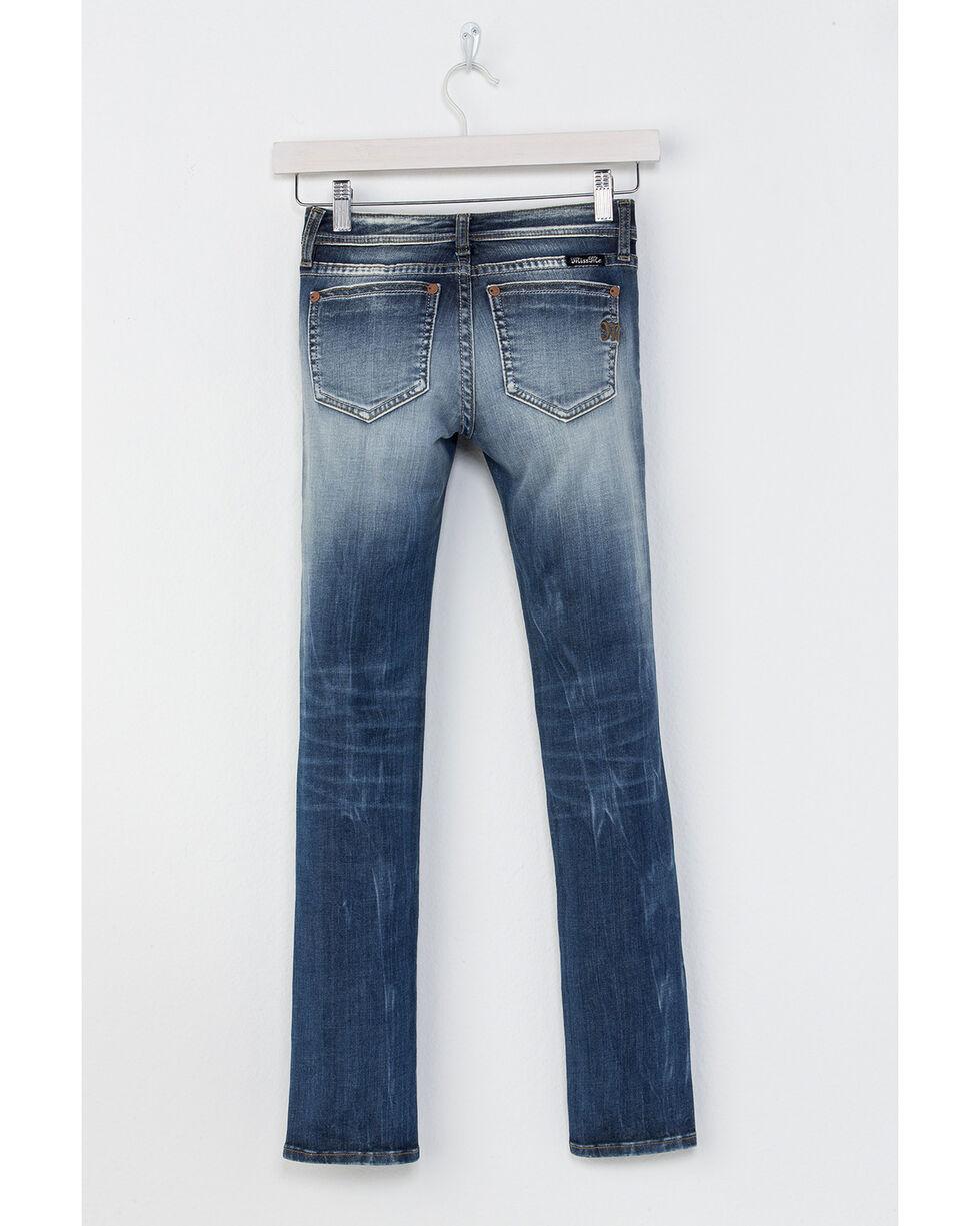 Miss Me Girls' Distress Call Skinny Jeans, Indigo, hi-res