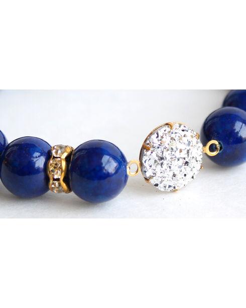 Everlasting Joy Women's Navy Riverstone Sparkle Bracelet, Navy, hi-res