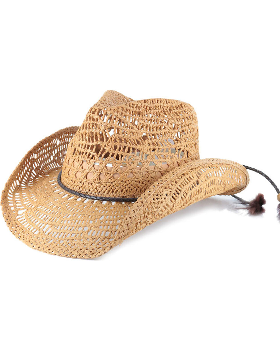 Shyanne®  Women's Brackley Straw Hat, Tan, hi-res