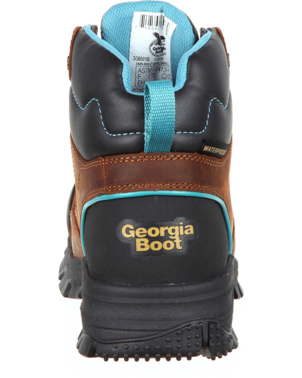 Georgia Women's Blue Collar Water Proof Work Boots, Brown, hi-res
