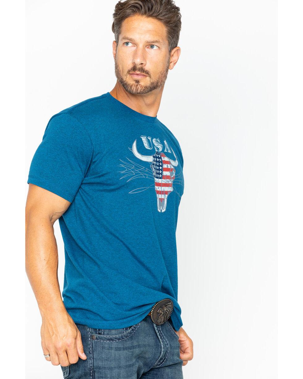Cody James Men's Bull Flag Short Sleeve T-Shirt, Blue, hi-res