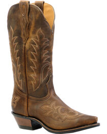 Boulet Selvaggio Wood Cowgirl Boots - Snip Toe, Wood, hi-res
