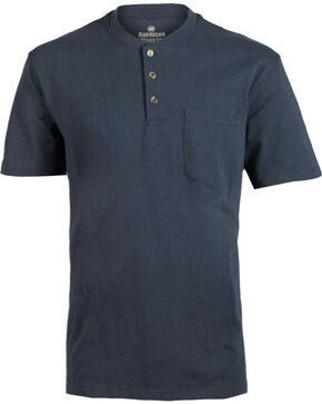 American Worker Men's Solid Short Sleeve T-Shirt - Big & Tall, Navy, hi-res