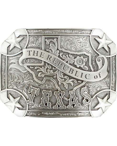 "Nocona ""The Republic of Texas"" buckle, Silver, hi-res"