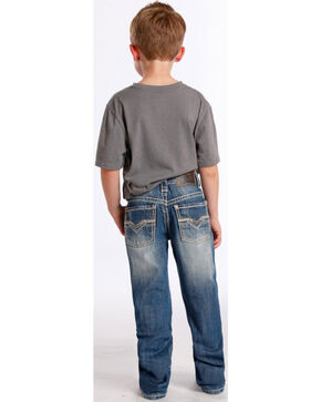 Rock & Roll Cowboy Boys' Faded Boot Cut Jeans, Indigo, hi-res