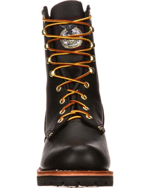 Georgia Men's Logger Boots, Black, hi-res