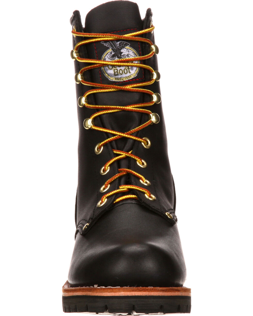 Georgia Men's Logger Boots, Black, hi-res