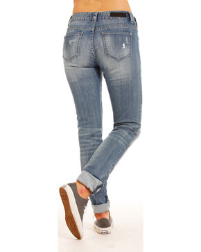 Rock & Roll Cowgirl Women's Indigo Basic Pocket Boyfriend Jeans - Skinny Leg , Indigo, hi-res