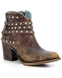Corral Women's Studded Strap Ankle Boots, , hi-res