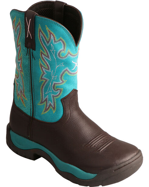 Twisted X Women's All Around Round Toe Western Boots, Chocolate, hi-res