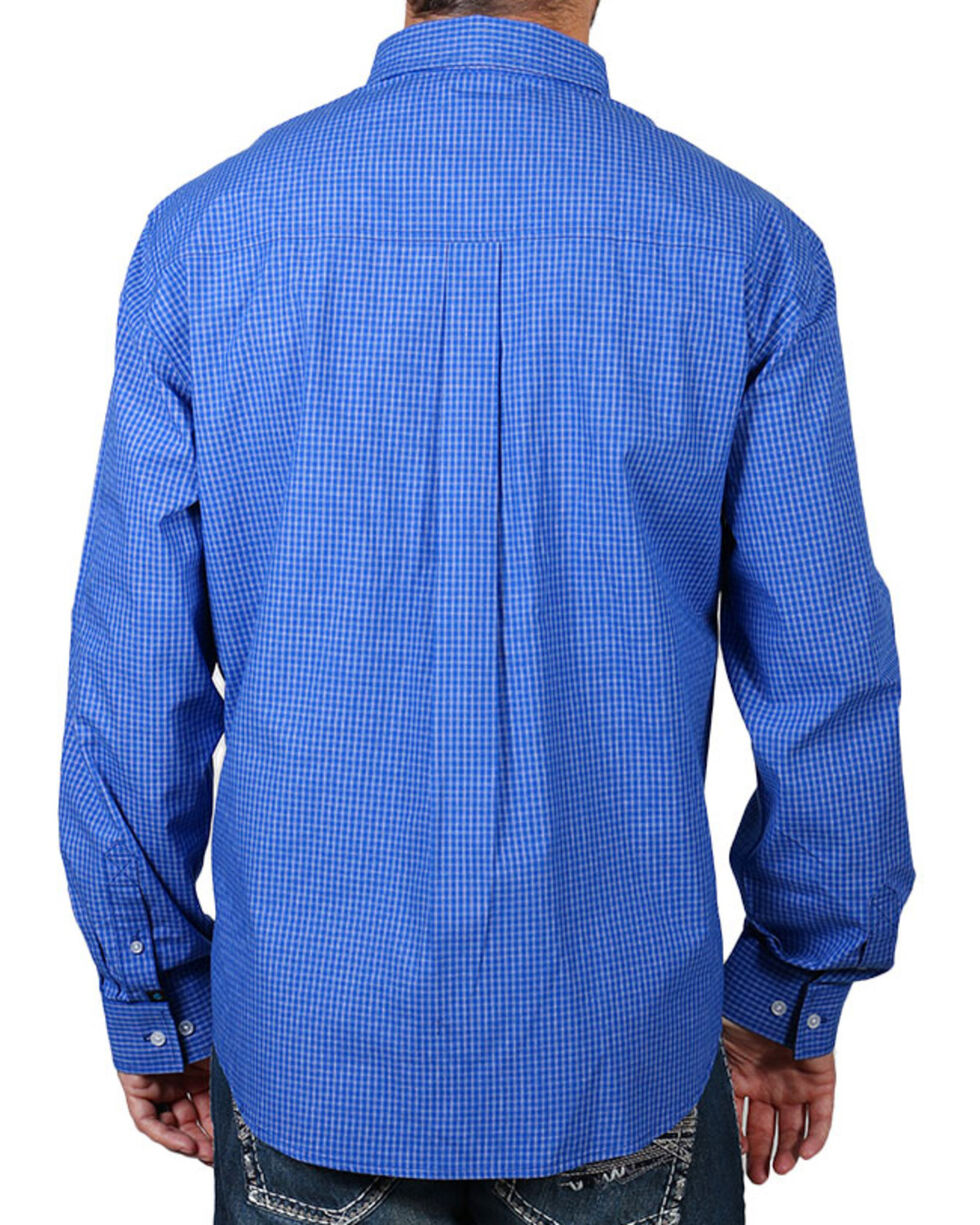 Cody James® Core Check Button Down Long Sleeve Shirt, Royal, hi-res
