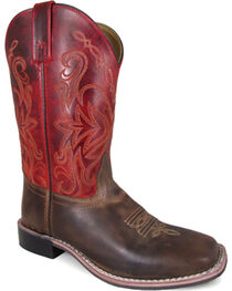 Smoky Mountain Women's Red Delta Western Boots - Square Toe , , hi-res