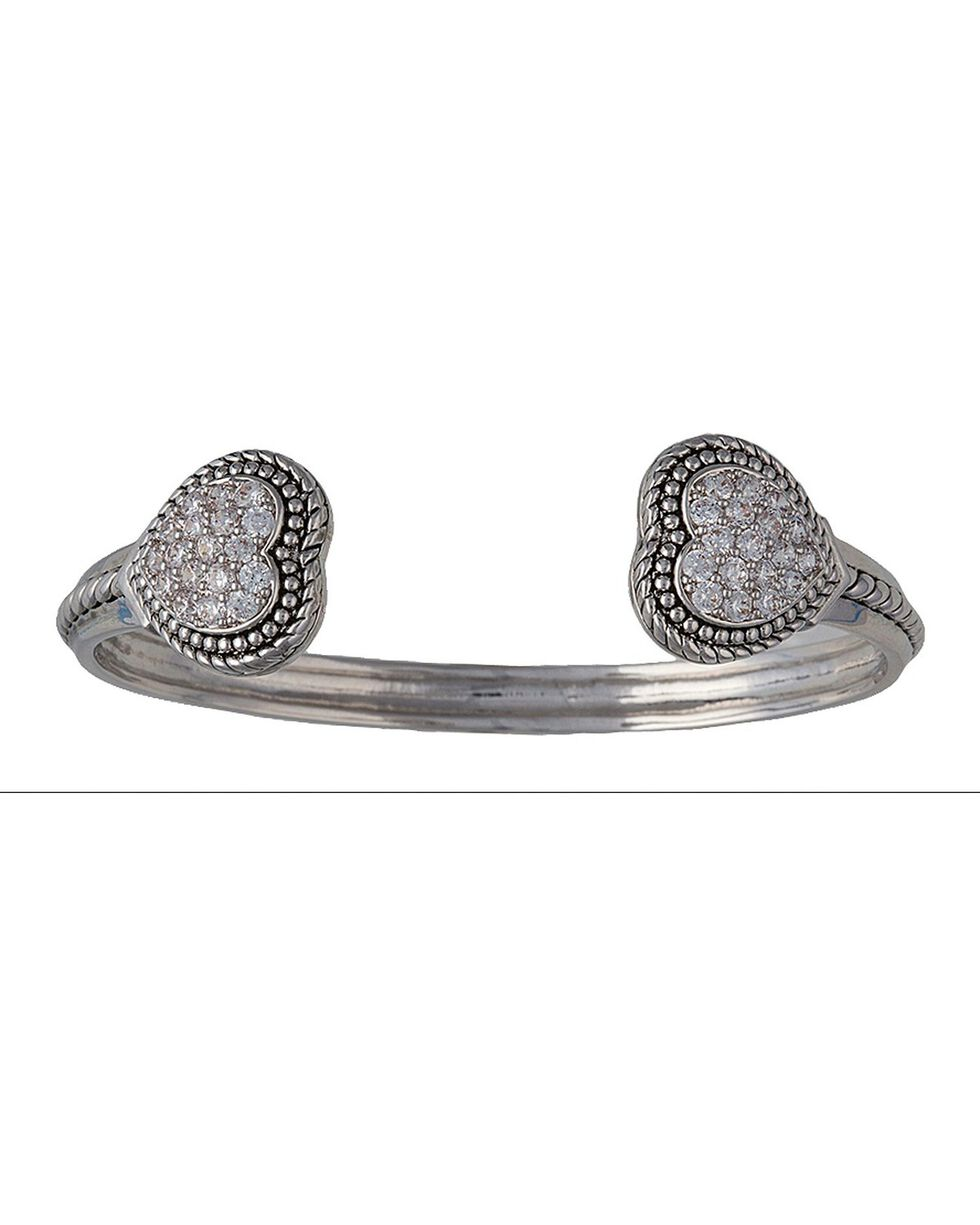 Montana Silversmiths To My Cowgirl Heart Torque Bracelet, Silver, hi-res