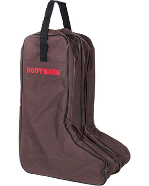 Boot Barn® Nylon Logo Boot Bag, Brown, hi-res