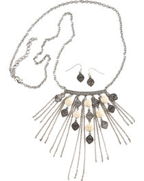 Shyanne Women's Bone Fringe Pendant Set , , hi-res