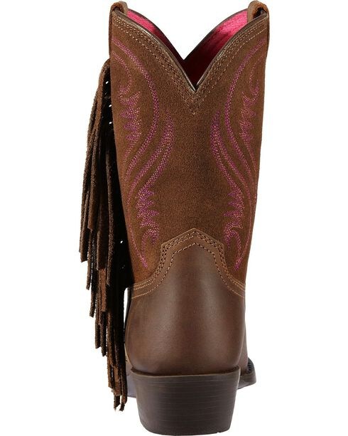 Ariat Girl's Fancy Fringe Western Boots, Distressed, hi-res