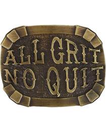 "Cody James® Men's ""All Grit No Quit"" Belt Buckle, , hi-res"