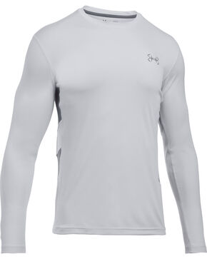 Under Armour Fish Hunter Tech Long Sleeve Shirt, Grey, hi-res