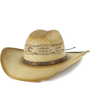 Charlie 1 Horse Women's Western Straw Hat, Lt Brown, hi-res