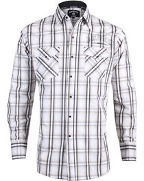 Ely Cattleman Men's Jack Daniel's Plaid Long Sleeve Western Shirt, , hi-res