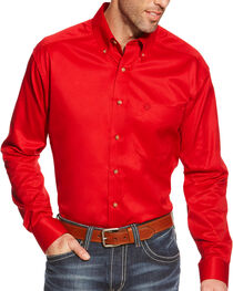 Ariat Men's Twill Western Long Sleeve Shirt, , hi-res