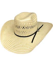 Bullhide Men's Short Round 50X Straw Cowboy Hat, , hi-res