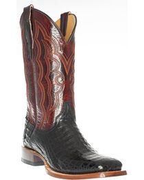 Cinch Men's Caiman Belly Square Toe Exotic Boots, , hi-res