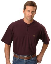 Riggs Workwear Men's Short Sleeve Henley T-Shirt, , hi-res