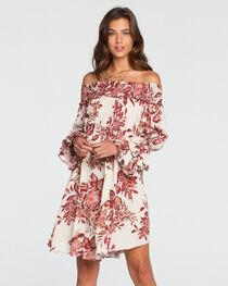 Miss Me Women's Autumn Kisses Off The Shoulder Floral Dress, , hi-res