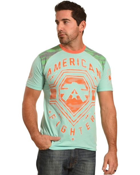 American Fighter Men's Turquoise Gleason Tee , Turquoise, hi-res