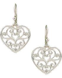 Montana Silversmiths Petite Heart's Flame Lattice Earrings, , hi-res