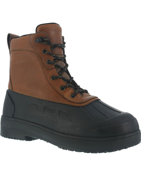 Iron Age Women's Duck Waterproof Work Boots - Steel Toe, Black, hi-res