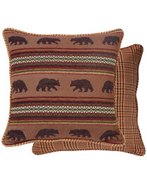 HiEnd Accents Bayfield Houndstooth Bear Euro Sham, , hi-res