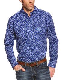 Ariat Men's Dante Poplin Long Sleeve Shirt, , hi-res