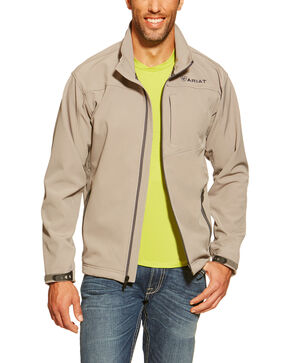 Ariat Men's Vernon Softshell Jacket, Grey, hi-res
