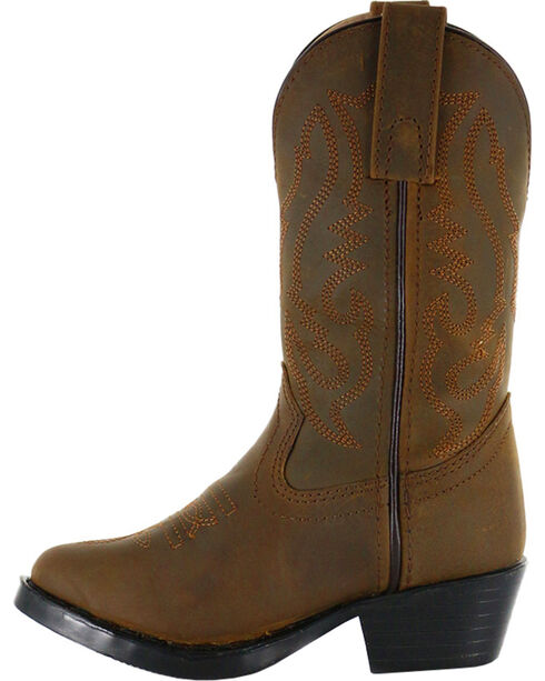 Cody James® Children's Round Toe Western Boots, Brown, hi-res