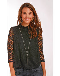 Panhandle Women's Lace Swing Top, , hi-res