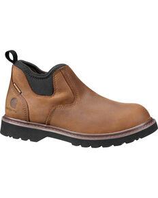 Carhartt Womens 4 Bison Brown Romeo Waterproof Shoes  Round Toe        Chocolate       hi