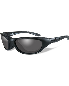 Wiley X Black Ops Airrage Grey Matte Black Sunglasses  , Black, hi-res