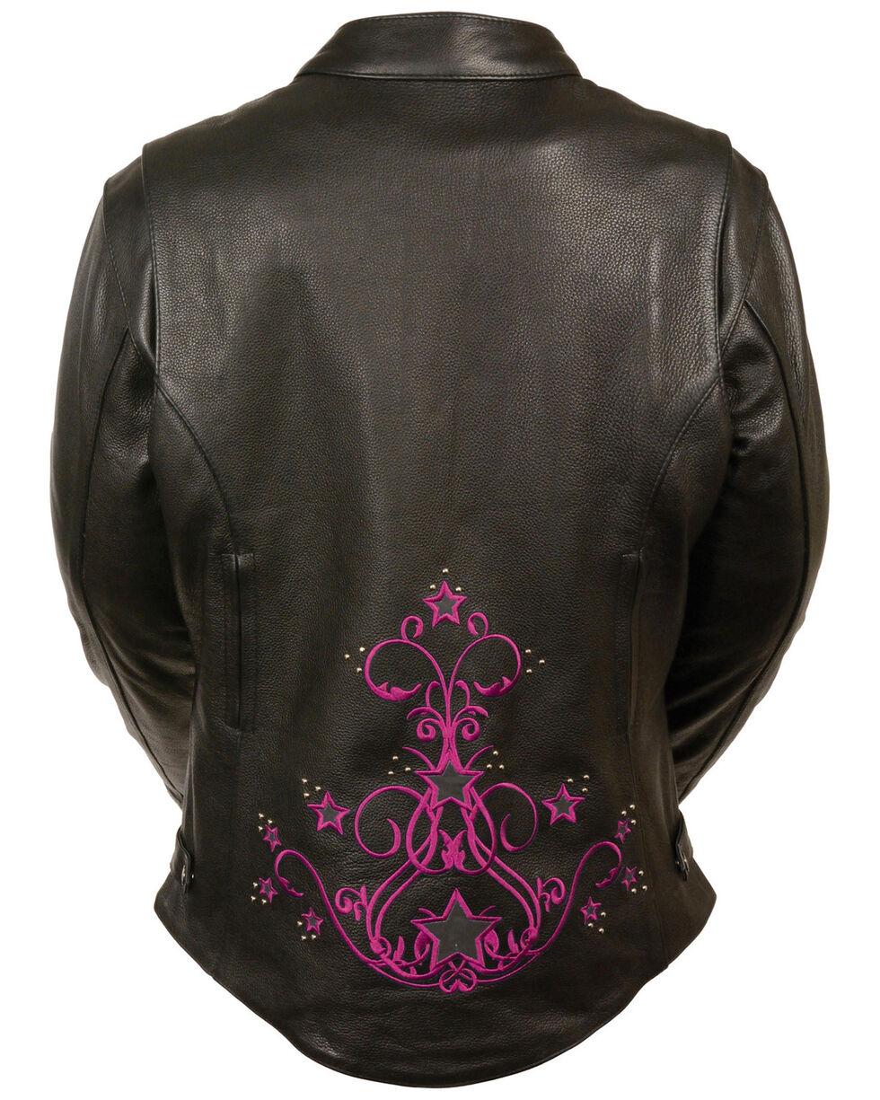 Milwaukee Leather Women's Reflective Star Jacket - 4X, , hi-res
