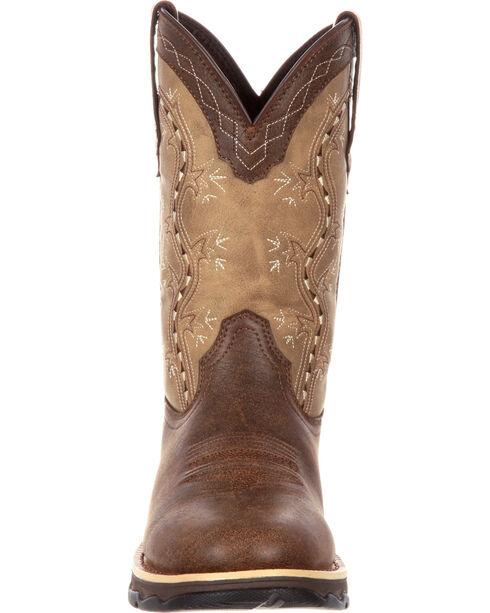 Lady Rebel by Durango Women's Slip Resistant Lightweight Western Work Boots, Brown, hi-res