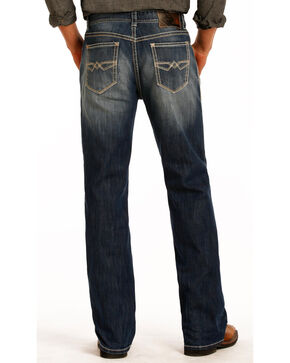 Rock & Roll Cowboy Men's Double Barrel Relaxed Straight Leg Jeans, Blue, hi-res