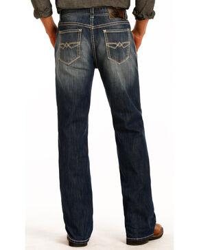 Rock & Roll Cowboy Men's Double Barrel Relaxed Straight Leg Jeans, Blue, hi-res