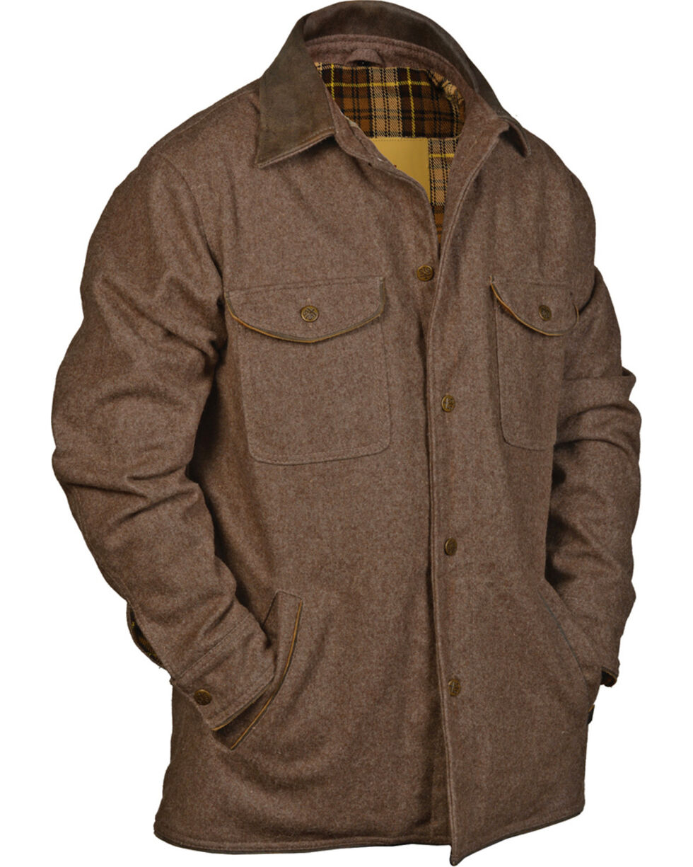 STS Ranchwear Men's Clifton Shirt Jacket - Big & Tall, Brown, hi-res