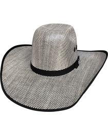 Bullhide Men's Shades of Black 50X Straw Cowboy Hat, , hi-res