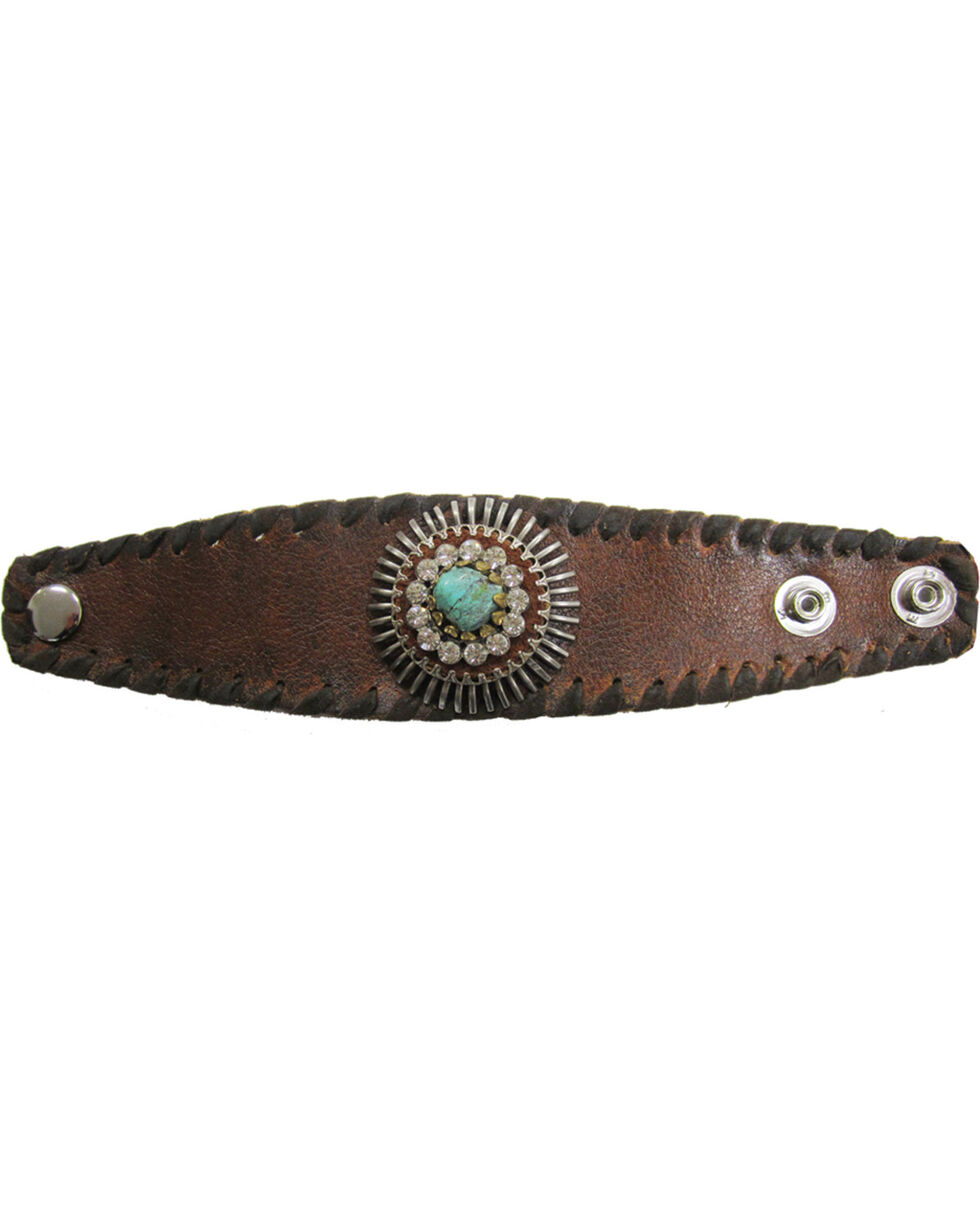 Cowgirl Confetti Women's Wonderfully Wild Cuff Bracelet, Brown, hi-res