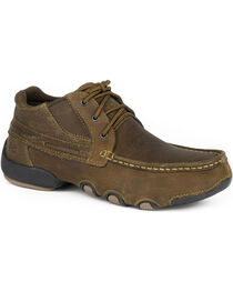 Roper Men's Tan High Country Cruisers Casual Driving Moc Shoes, , hi-res